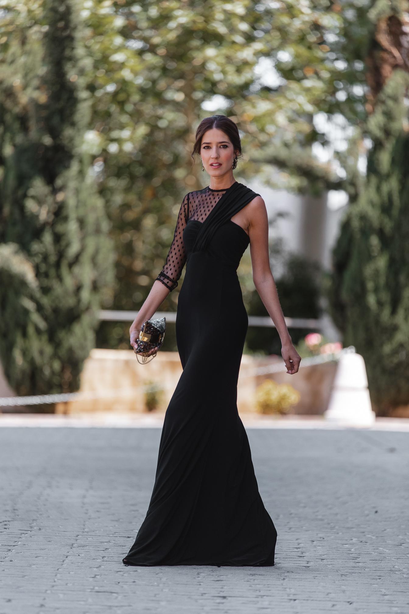 invitada perfecta vestido negro largo