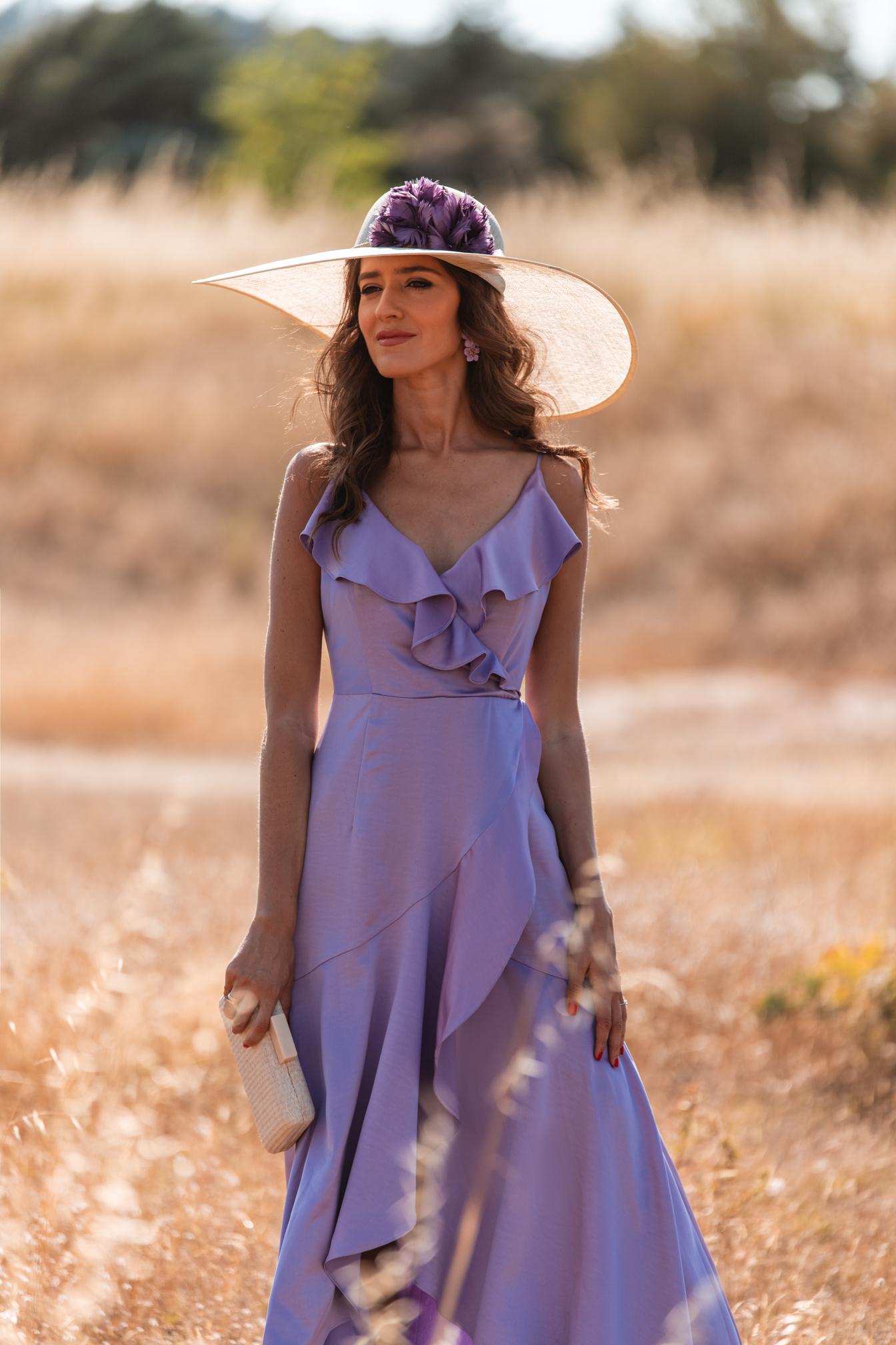 vestido lila pamela invitada