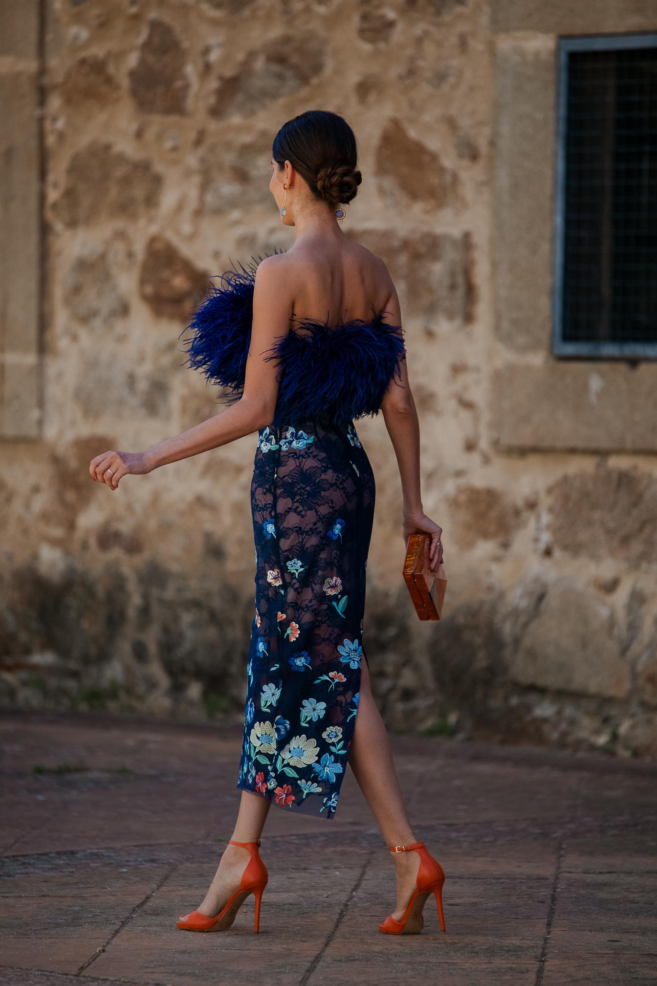 vestido midi estampado invitada boda