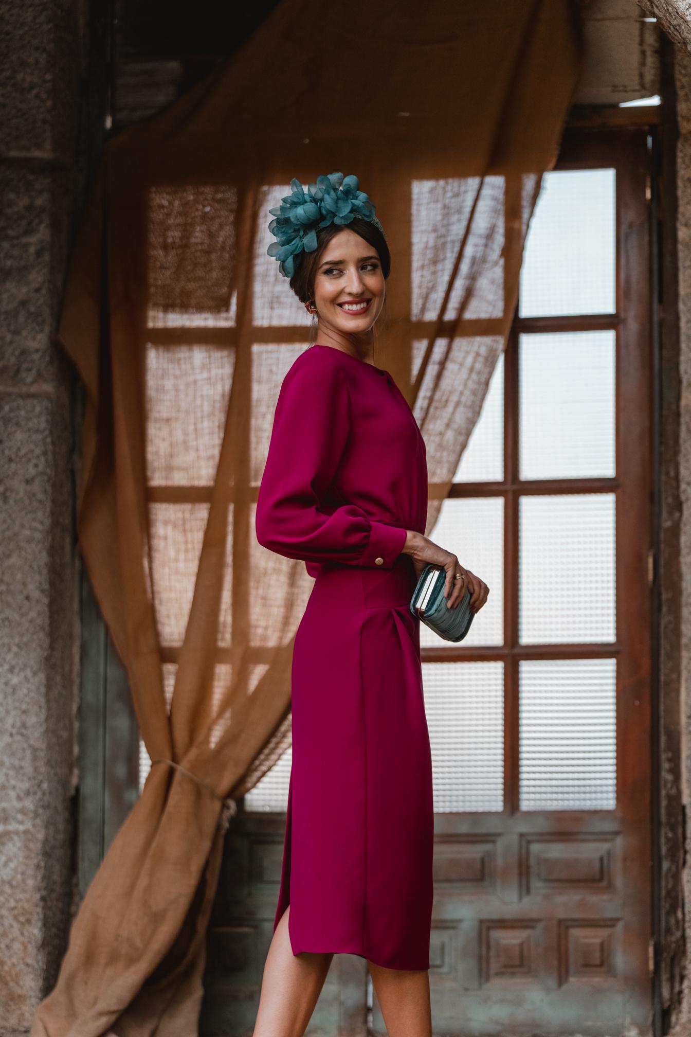 invitada perfecta vestido buganvilla diadema