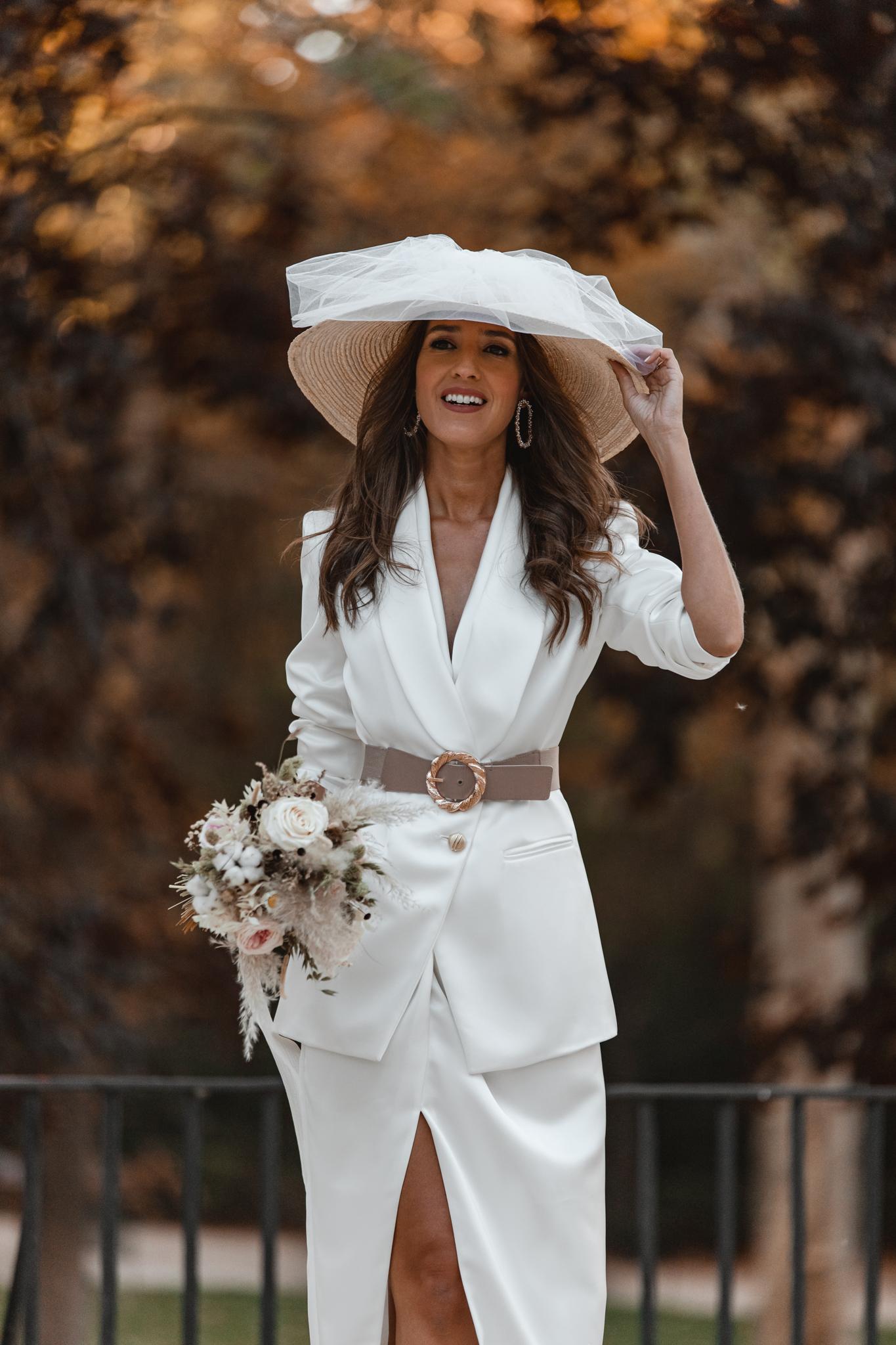 novia civil traje chaqueta pamela