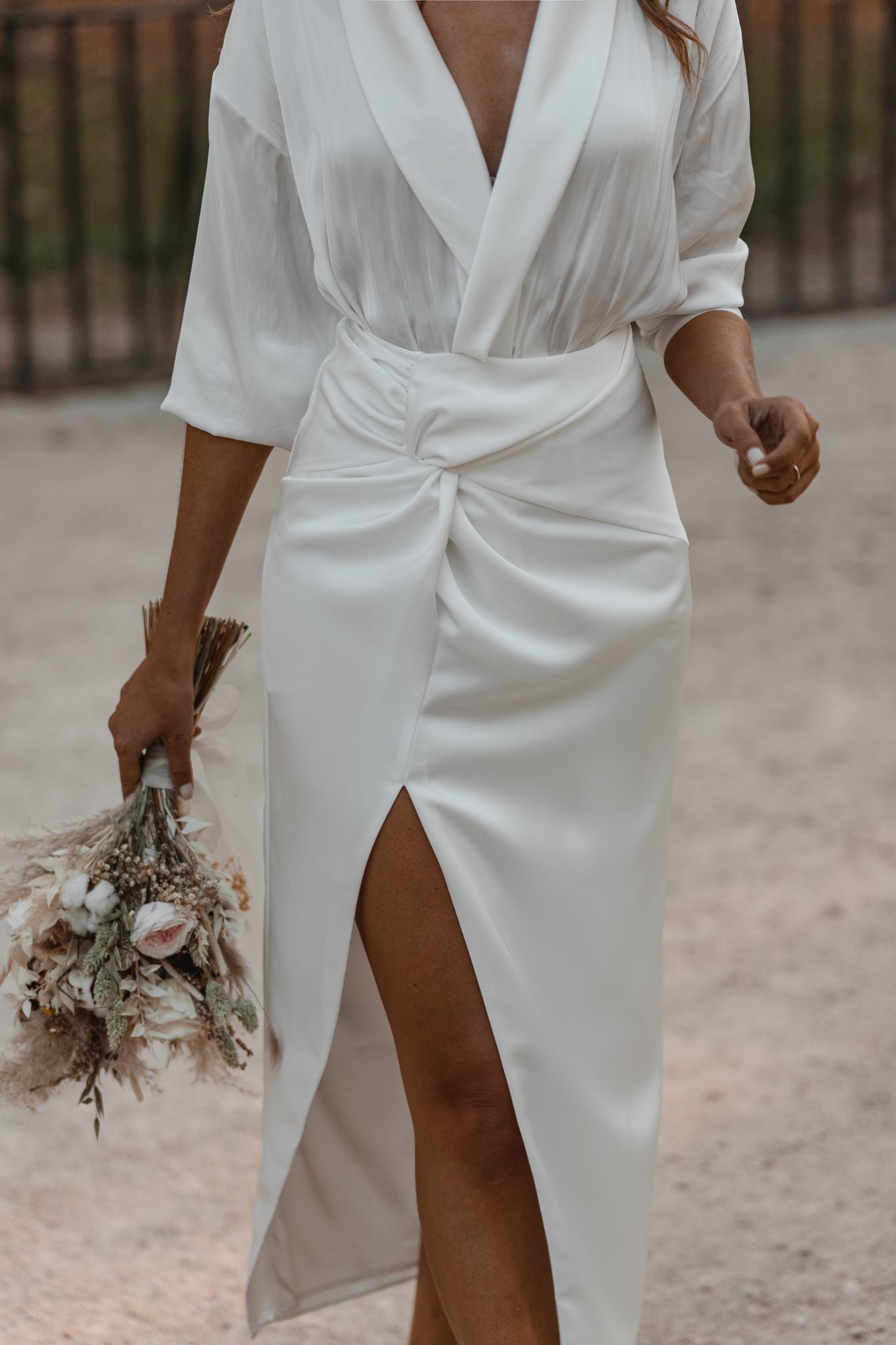 falda blanca novia