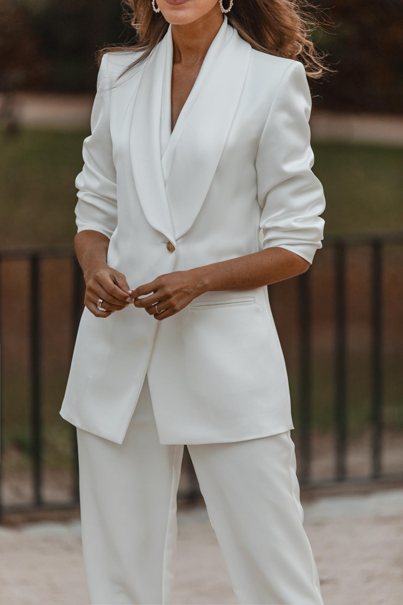 traje chaqueta blanco novia comunion
