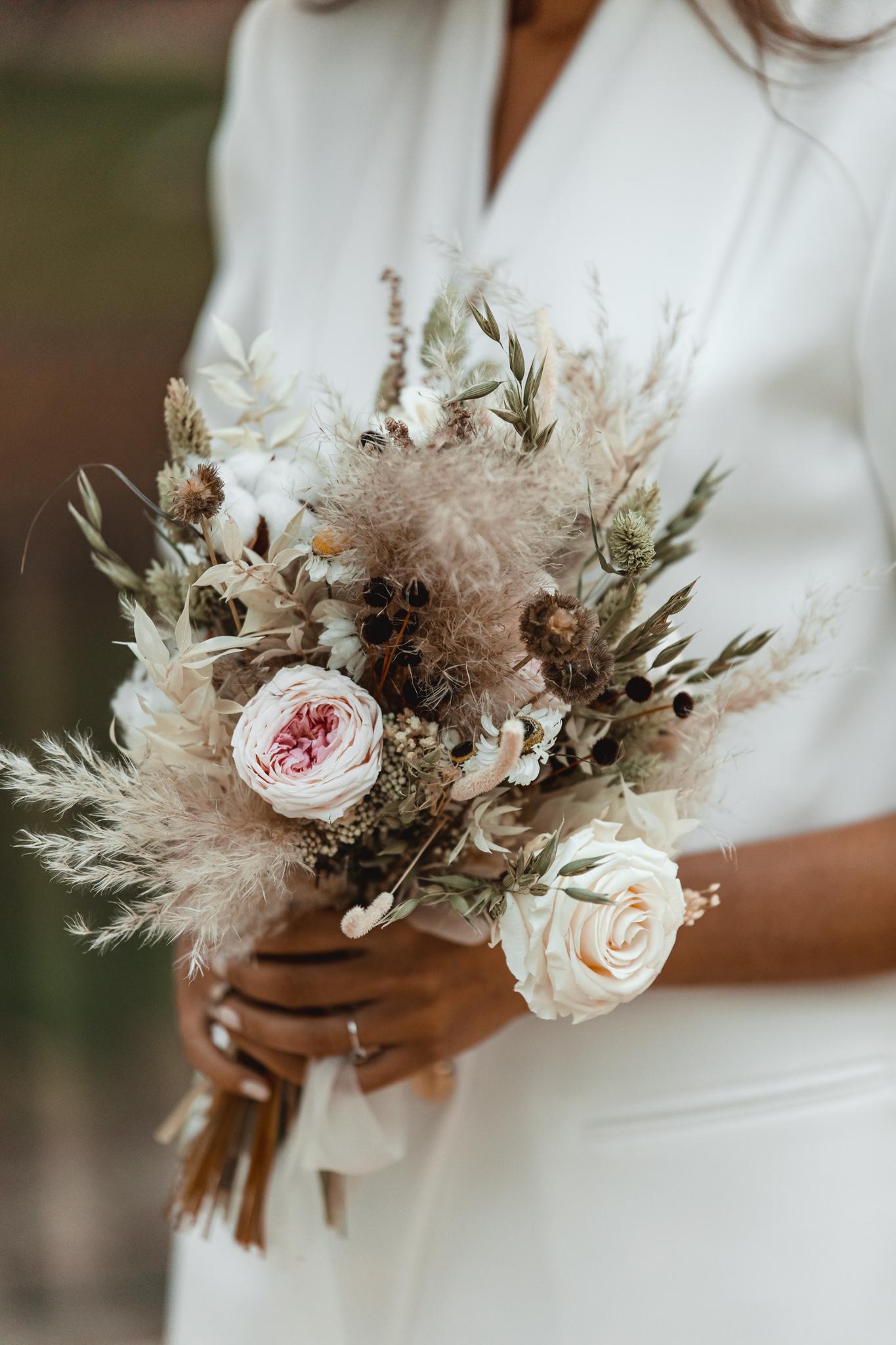 ramo preservado novia otoño