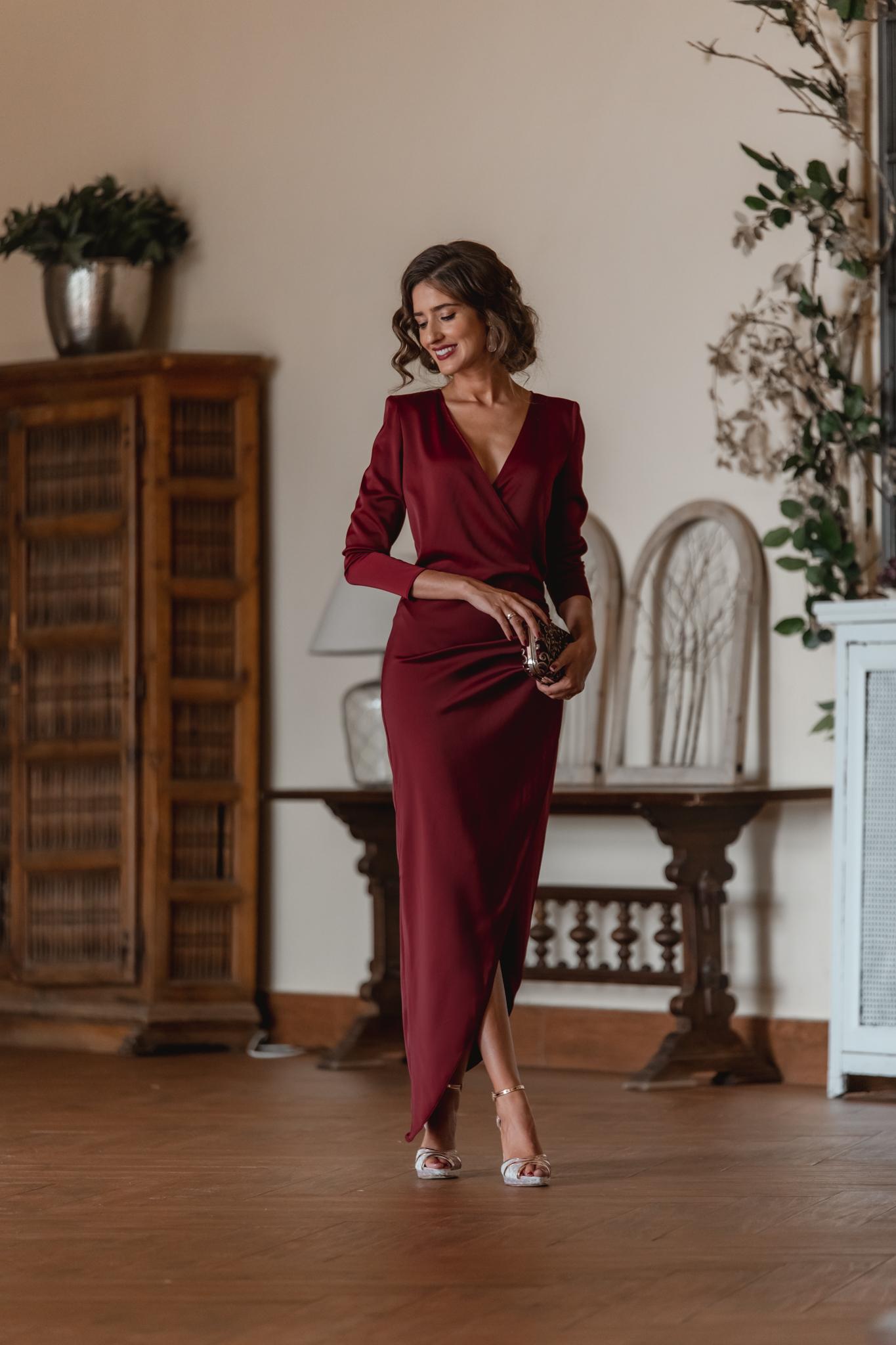 vestido invitada boda noche otoño 2021