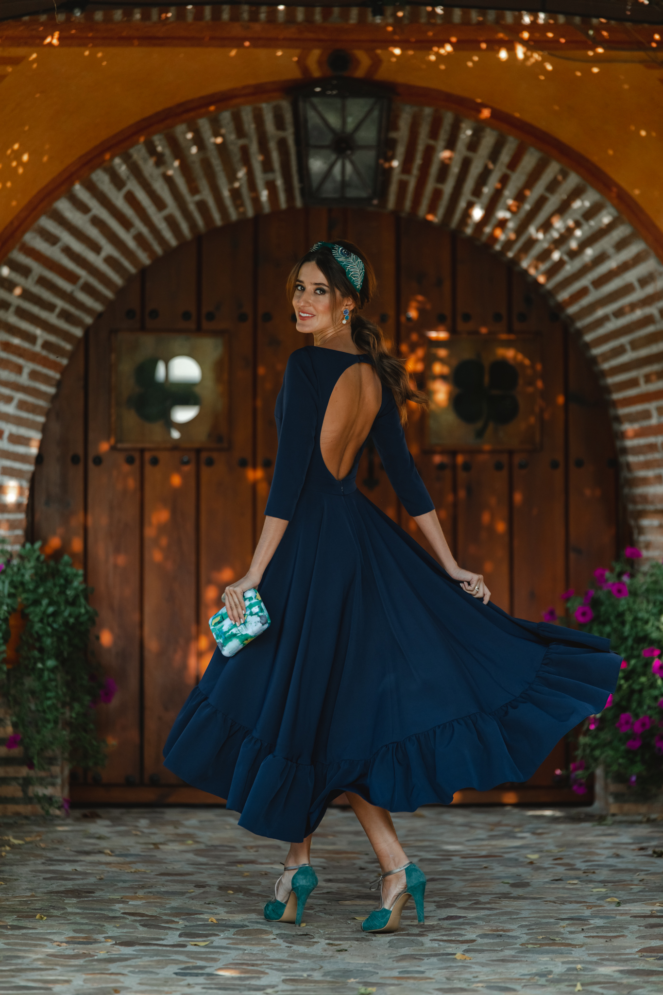 invitada perfecta otoño vestido azul