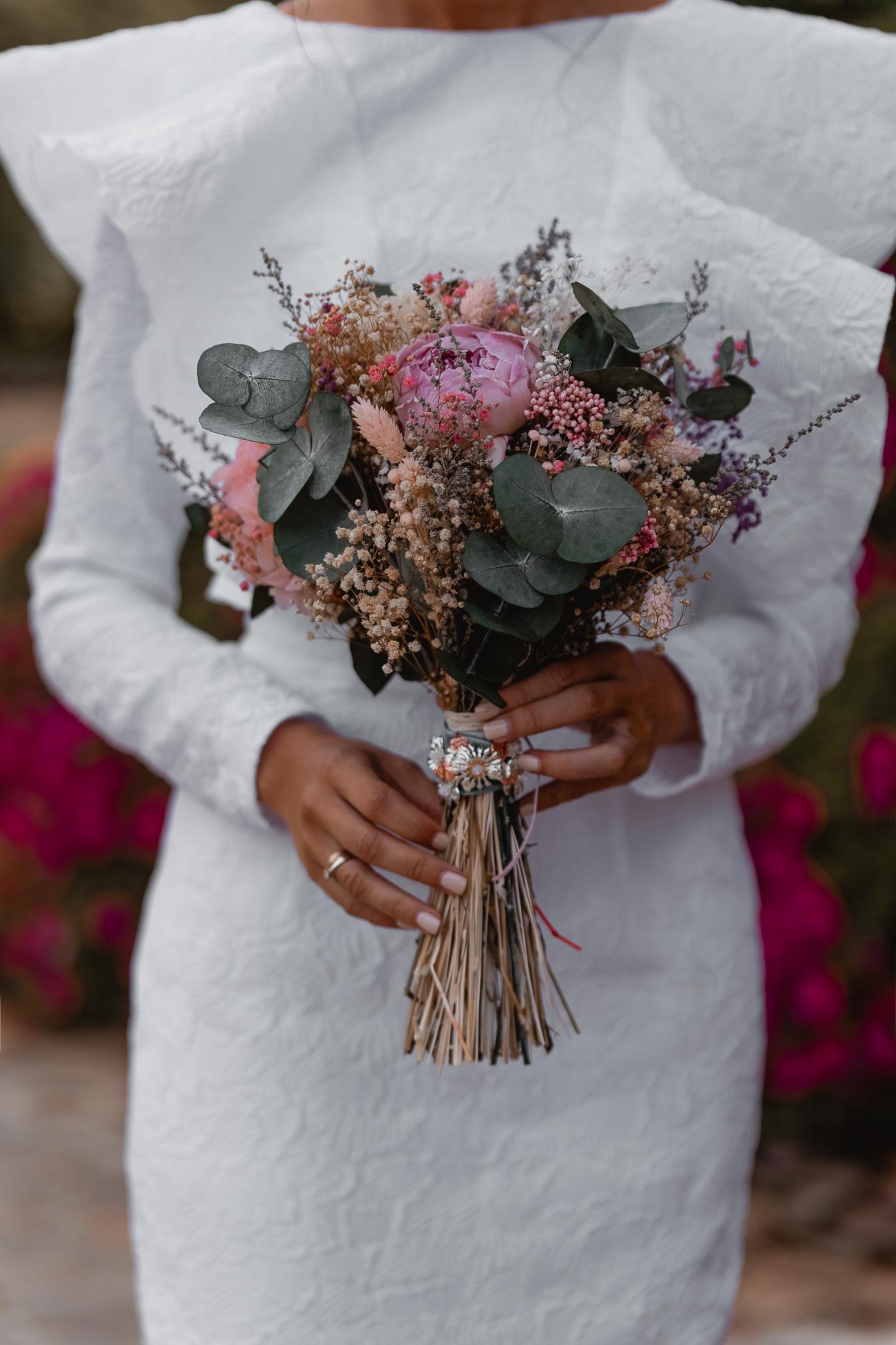 ramo novia rosa flores preservadas