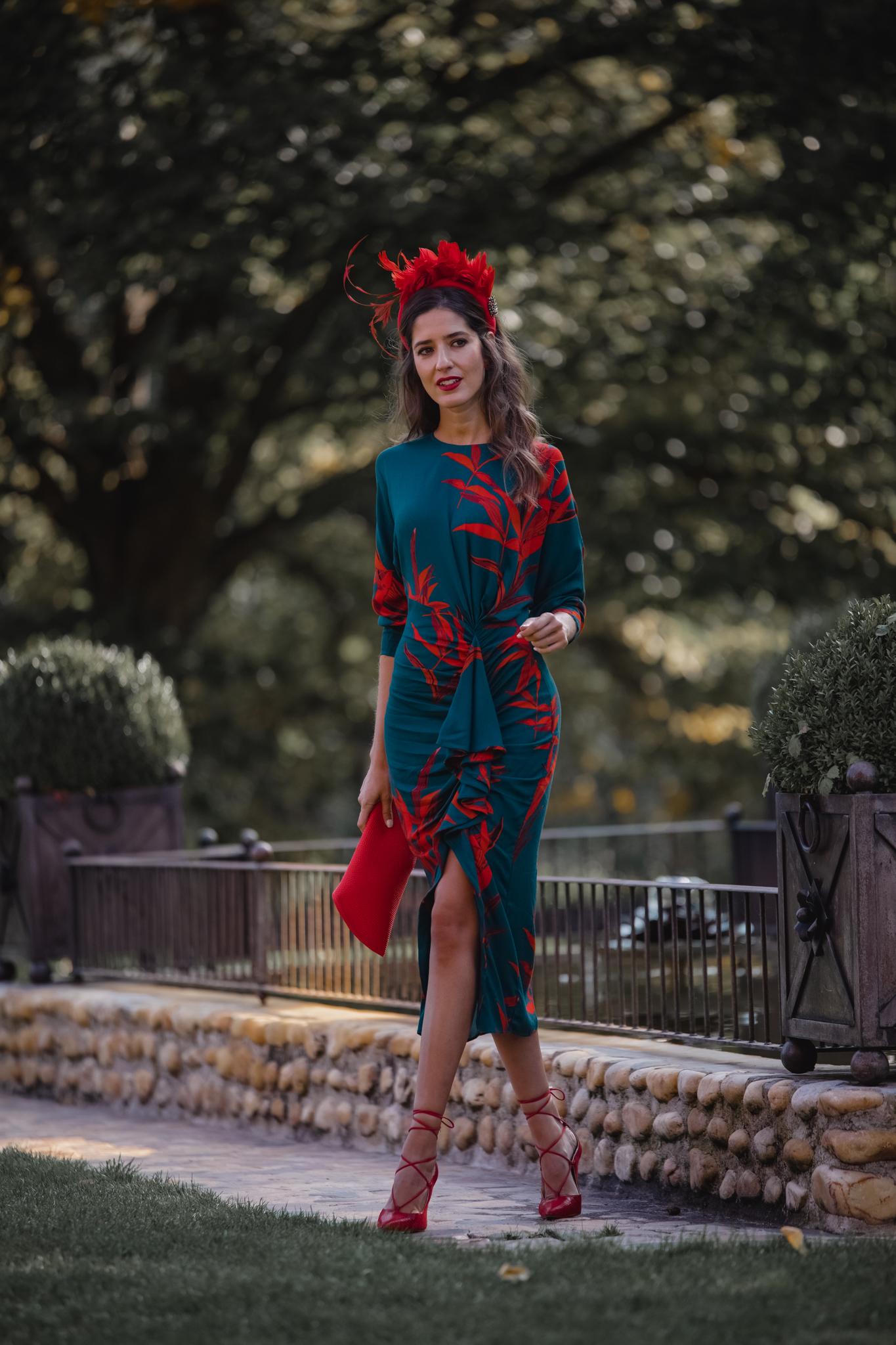 Invitada perfecta vestido estampado otoño